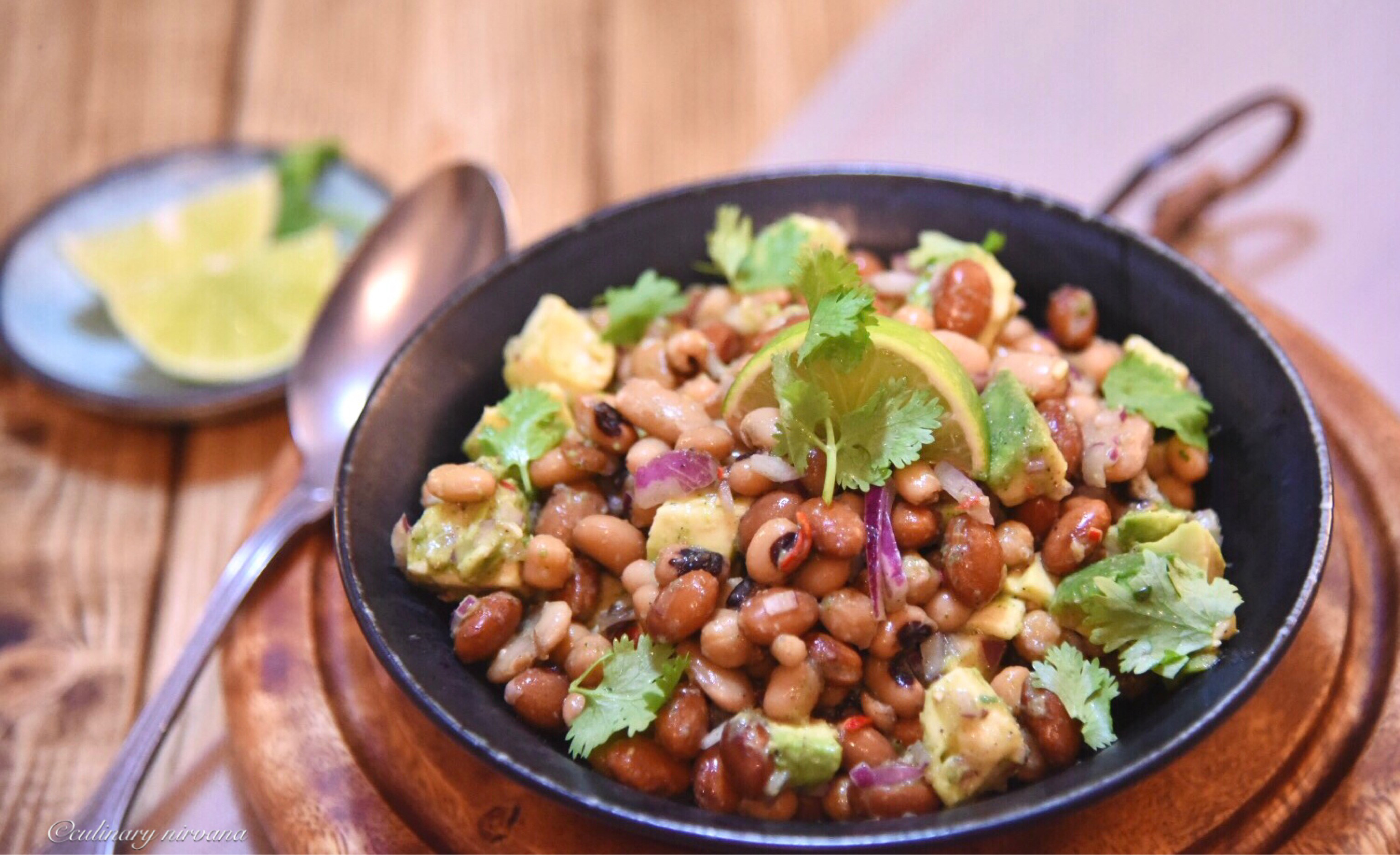 Three Bean Spicy Salad