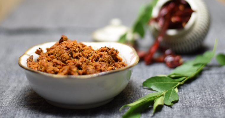 Andhra Style Chilli Coconut Chutney
