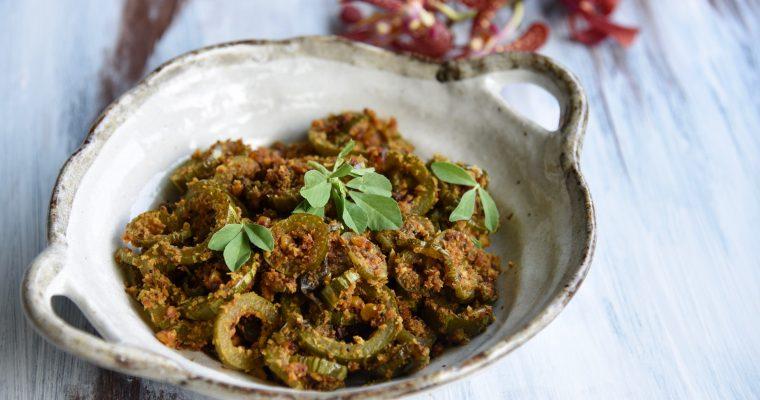Padwal Chi Bhaji ( Snake Gourd Stir-fry)