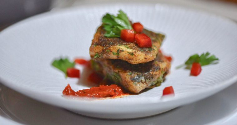 Fish Bites with Tomato Mustard Chutney