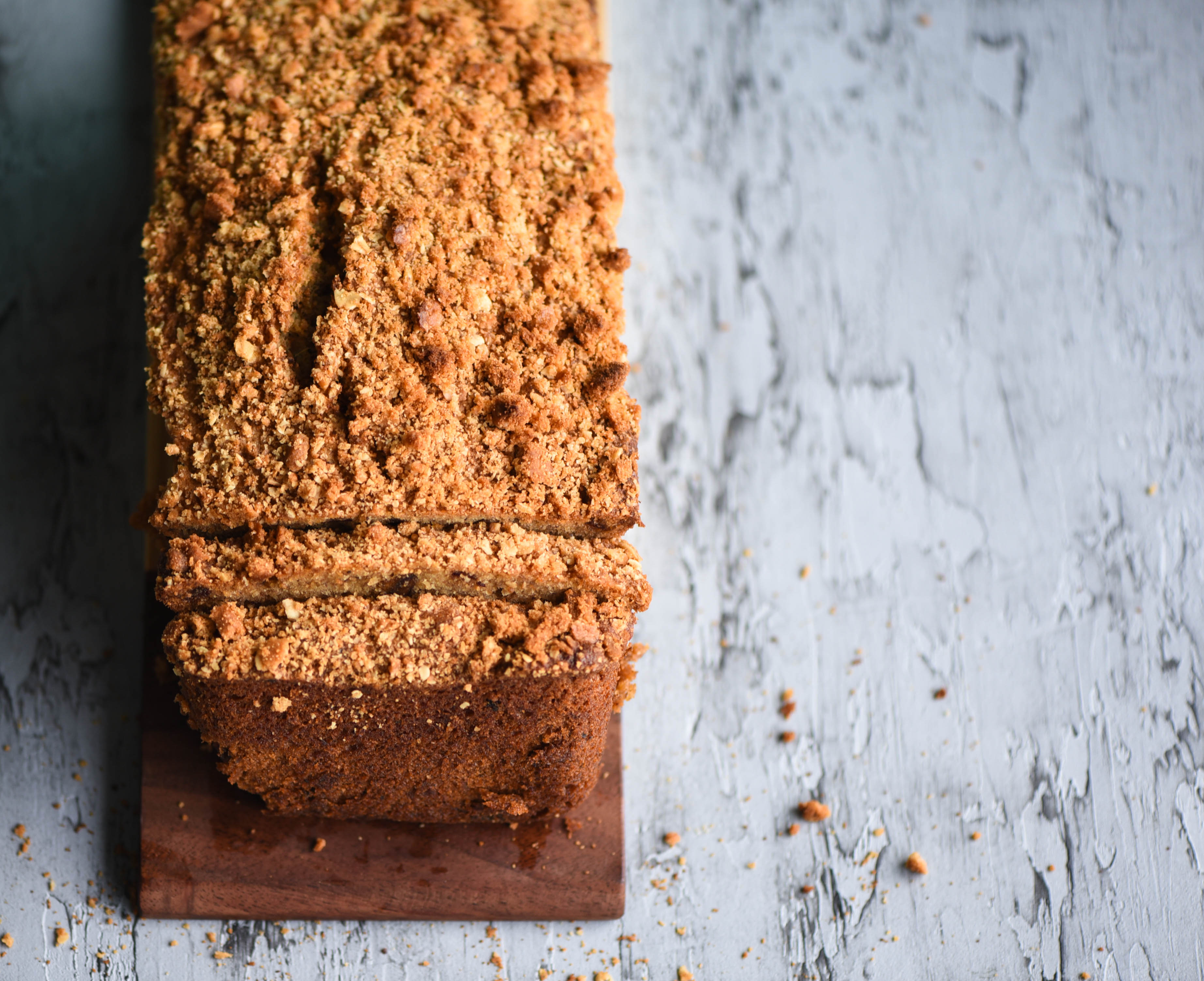 Banana Date Cake With Lotus Biscuit Topping