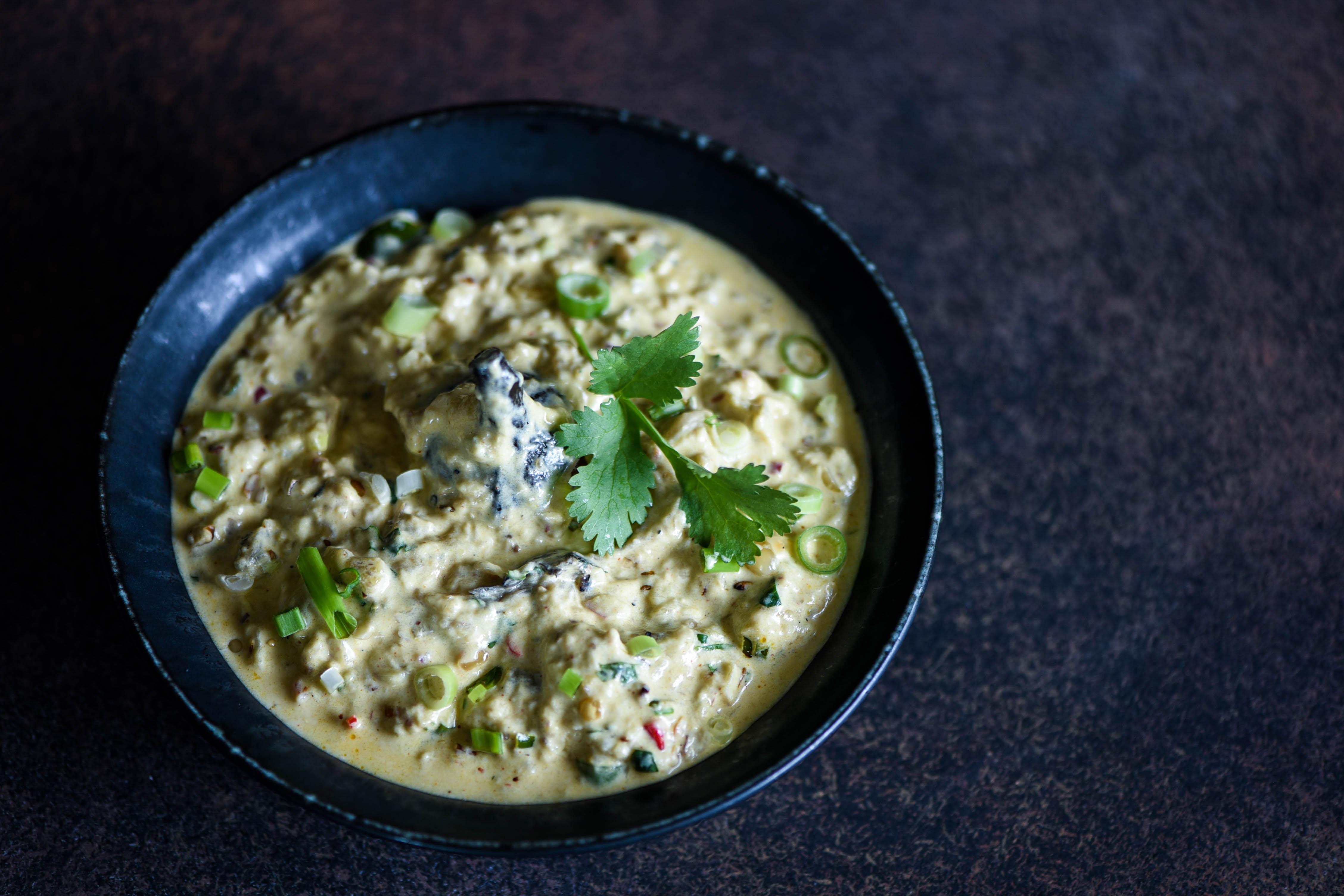 Vange Bharit (Roasted Aubergine in Yoghurt)