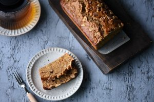BANANA, CANDIED GINGER AND WALNUTS BREAD