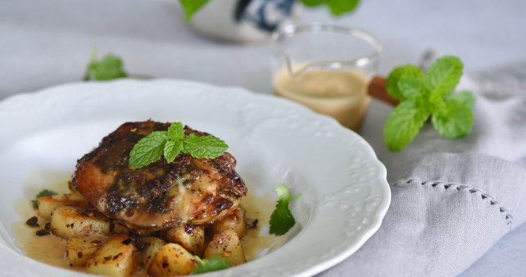 South Asian Flavoured Grilled Chicken With Coconut Sauce