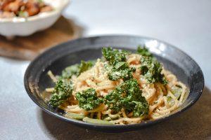 Miso Spaghetti with Kale