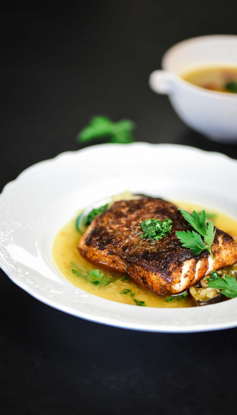 Seabass with Aromatic Flavours