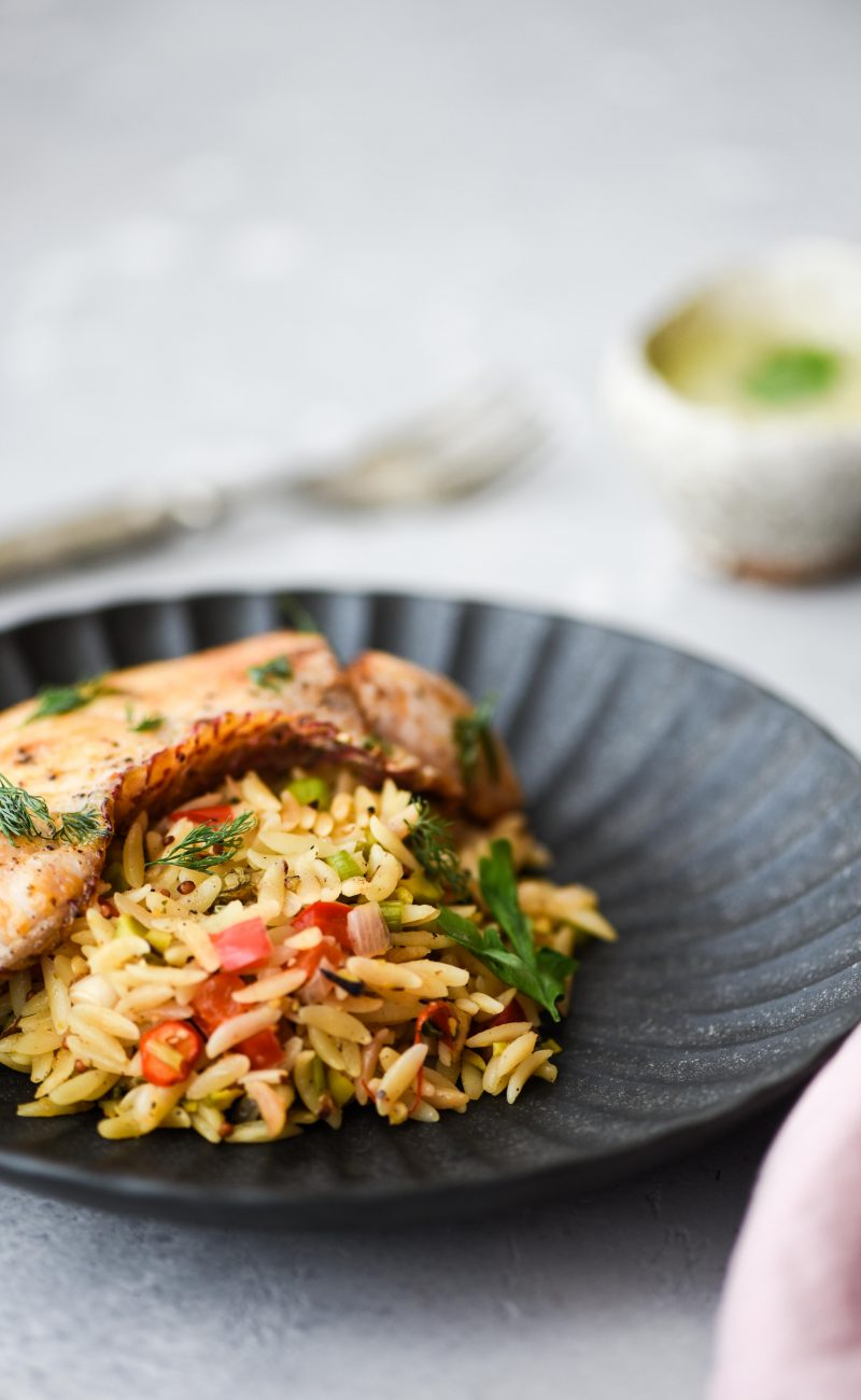Orzo with Snapper