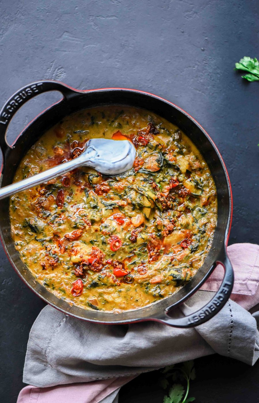 Rustic Spinach Potato Curry