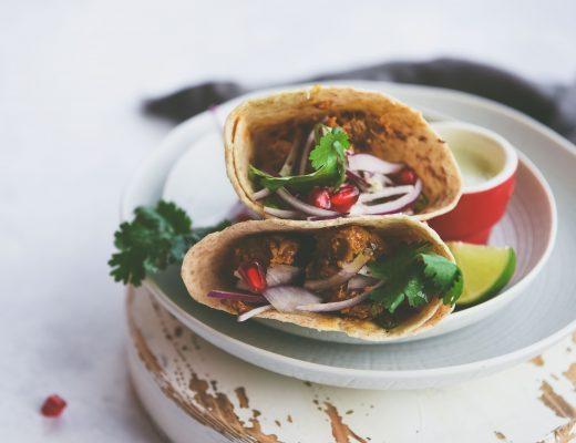 Andhra Chicken Tacos