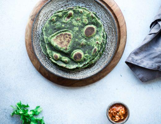 Gluten-Free Spinach Flatbreads