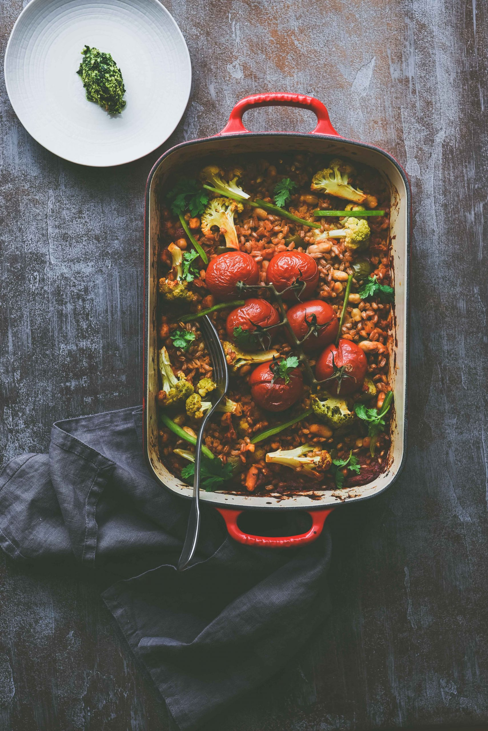 Farro and Beans Casserole- protein packed meal